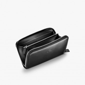 Black leather female wallet M