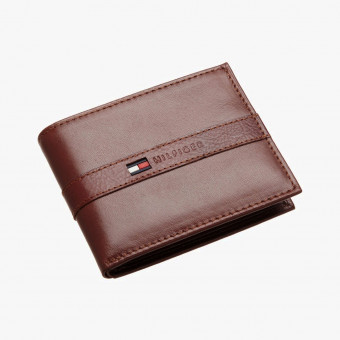 Brown leather male wallet M