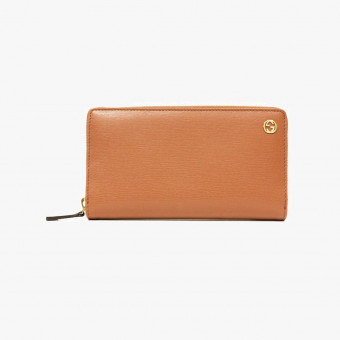 Orange synth leather female wallet M