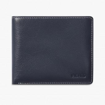 Black leather male wallet L