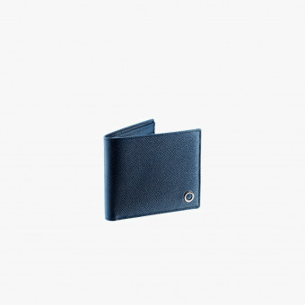 Blue synth leather male wallet S