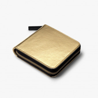 Gold synth leather female wallet S