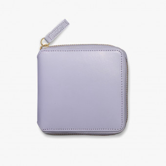 White synt leather female wallet L