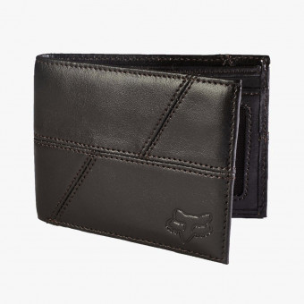 Black leather unisex wallet XL