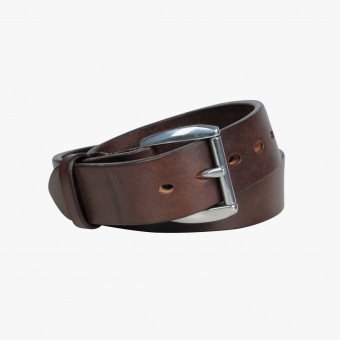 Brown leather male belt M