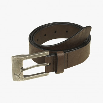 Brown synth leather unisex belt XS