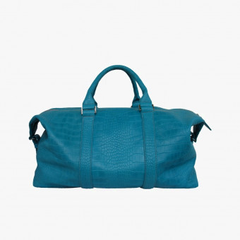 Blue synth leather female L