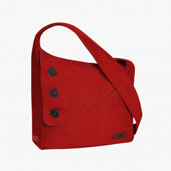 Red synth leather female S
