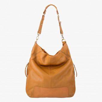 Orange synth leather female XL