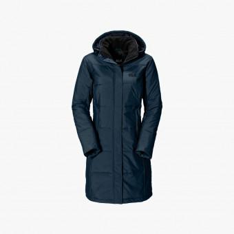 Blue polyester female coat M