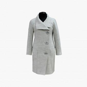 White cotton female coat M
