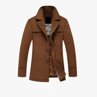 Brown cotton male coat L