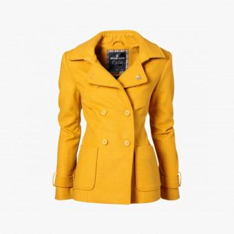 Yellow cotton female coat S