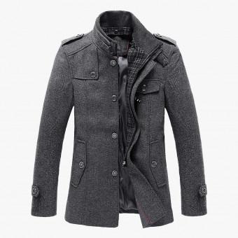 Gray cotton male coat S