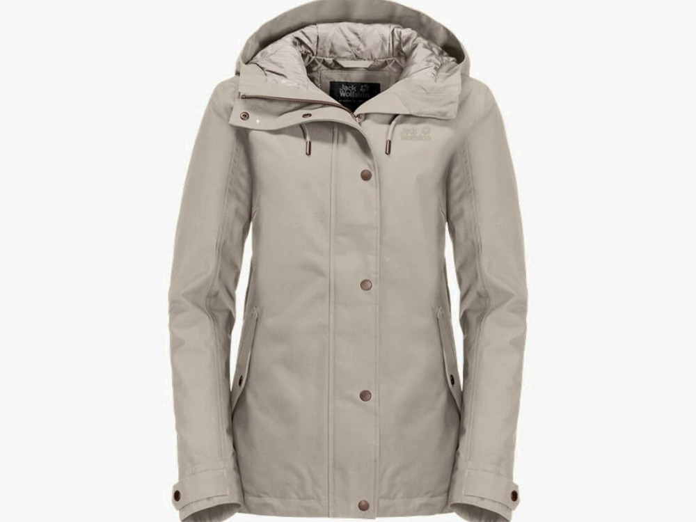 Beige cotton female coat XL
