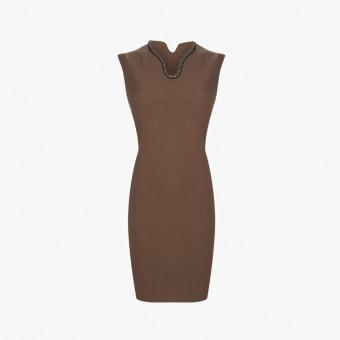 Brown cotton dress S