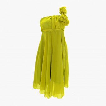 Yellow lace dress S