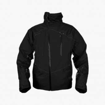 Black polyester male jacket M