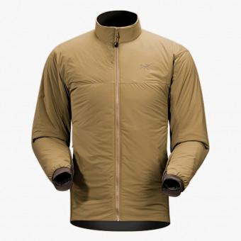 Beige polyester male jacket M