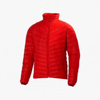Red polyester female jacket S