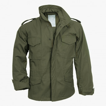Green cotton male jacket XS