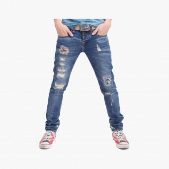 Light blue cotton male jean M