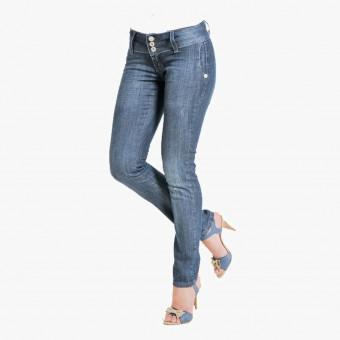 Light blue lycra female jean L