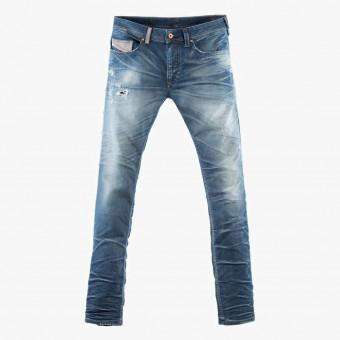 Light blue cotton male jean L