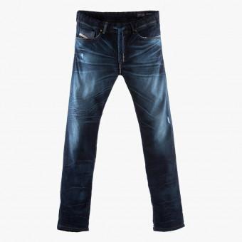 Dark blue cotton male jean S