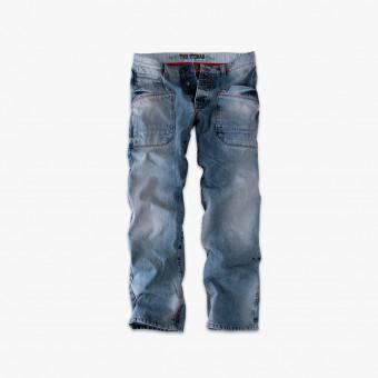 Light blue cotton male jean XL