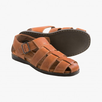 Brown leather sandals 10