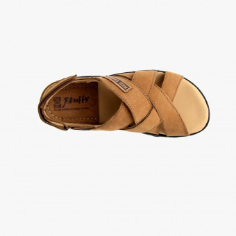 Light brown synth leather sandals 10