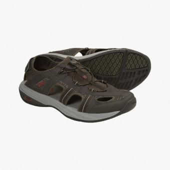 Dark brown silicone sandals 9