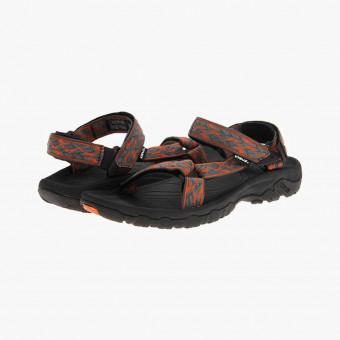 Orange silicone sandals 9