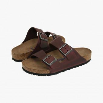 Dark brown leather sandals 9