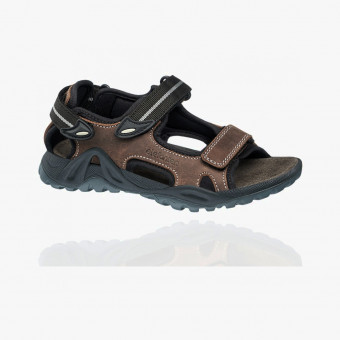 Dark brown synth leather sandals 9