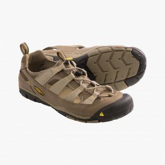 Βeige synth leather sandals 8.5