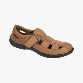 Brown leather sandals 8.5