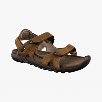 Dark brown leather sandals 9,5