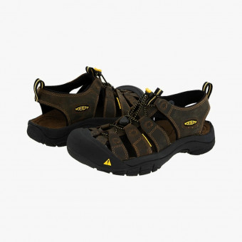 Dark brown synth Leather sandals 10.5