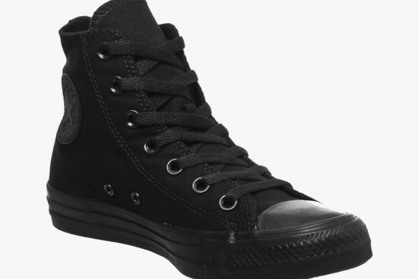 Black cotton <mark>sneakers</mark> 10
