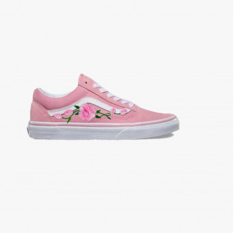 Pink cotton sneakers 13