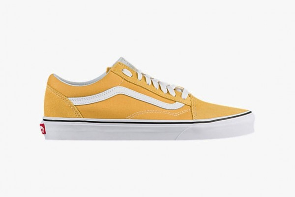 Yellow synth leather <mark>sneakers</mark> 7.5