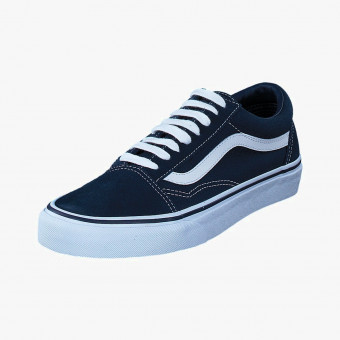 Dark blue synth leather sneakers 9.5