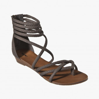Gray cotton sandals 7.5
