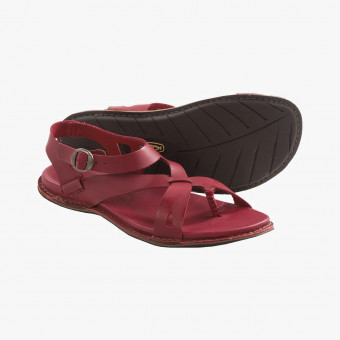 Bordeaux synth leather sandals 7.5