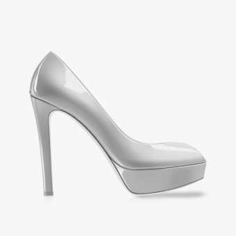 White polyester heels 9