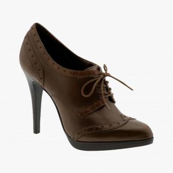 Dark brown Leather heels 9