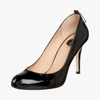 Black polyester heels 9