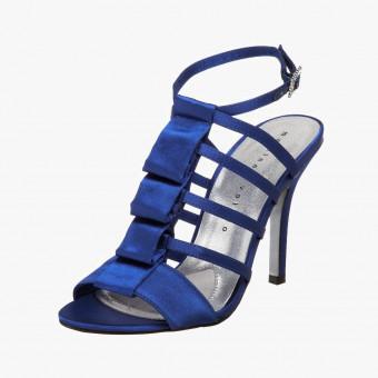 Dark blue cotton heels 9